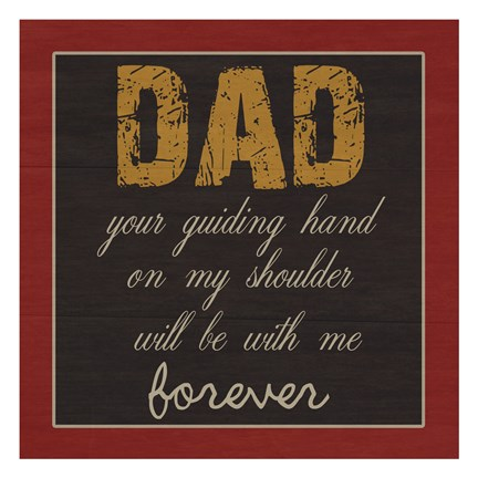 Framed Dear DaD Print