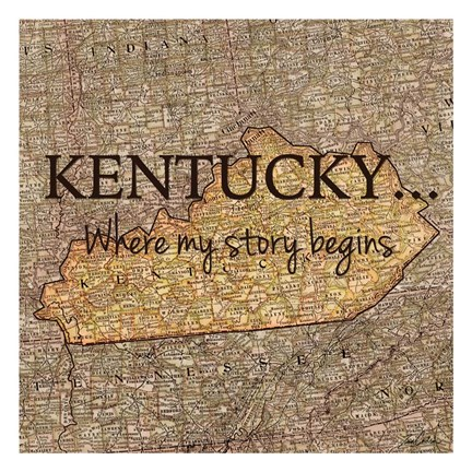 Framed Story Kentucky Print