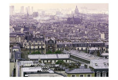 Framed Foggy Paris Print
