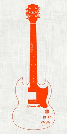 Framed Guitar Collectior III Print