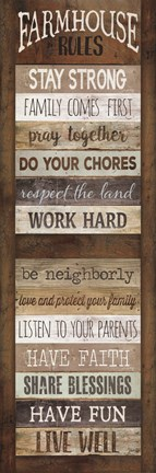 Framed Farmhouse Rules Shutter Print