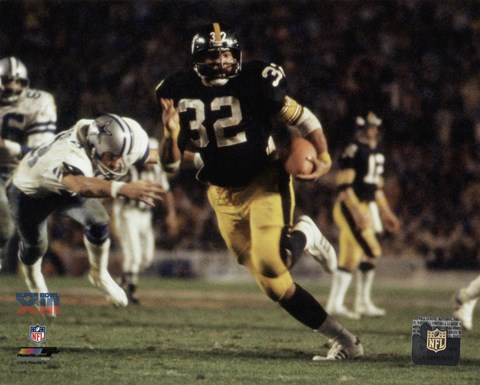 Framed Franco Harris Super Bowl XIII Action Print