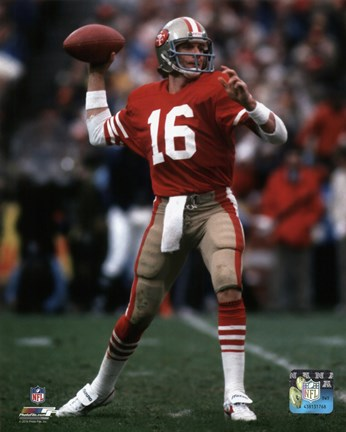 Framed Joe Montana 1984 NFC Championship Game Action Print