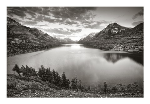 Framed Waterton Sunset Print
