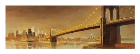 Framed Brooklyn Bridge Print