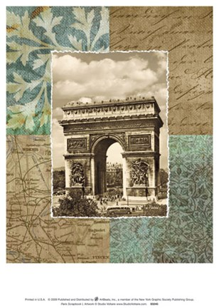 Framed Paris Scrapbook I Print