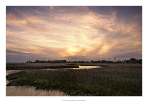 Framed Low Country Sunset I Print