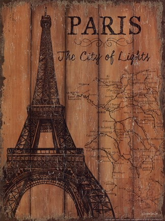 Framed Paris Travel Poster Print