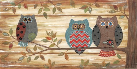 Framed Three Wise Owls Print