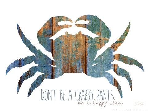 Framed Don't be a Crabby Pants Print