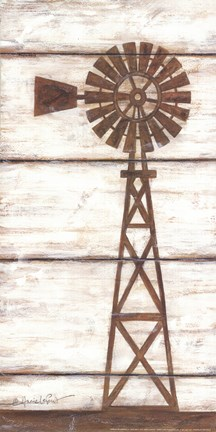 Framed Farmhouse Windmill II Print