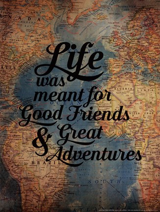 Framed Good Friends - Great Adventure Print