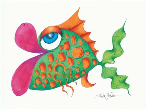 Framed Flamboyant Fish III Print