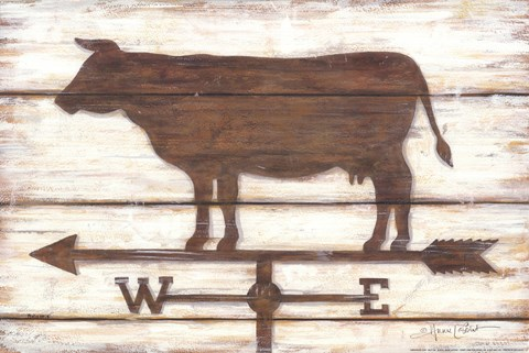 Framed Farmhouse Cow Print