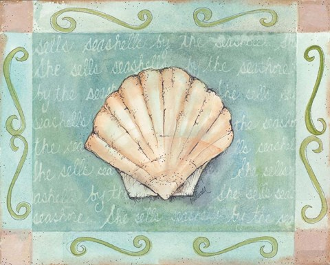 Framed Scallop Seashell Print