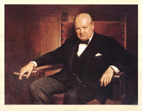 Framed Sir Winston Churchill Print