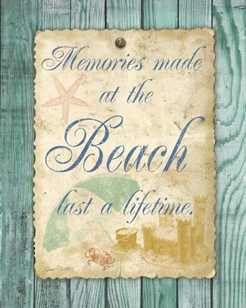 Framed Beach Notes I Print