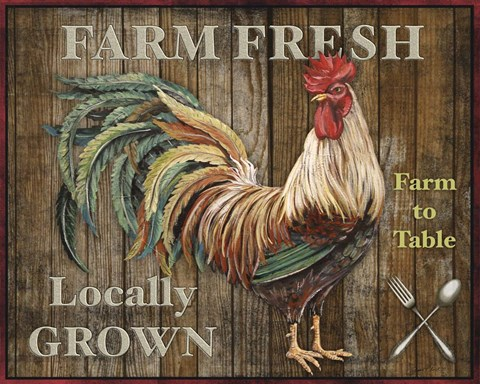 Framed Farm Fresh I Print