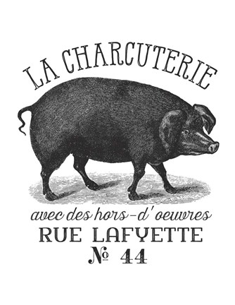 Framed French Pig Print