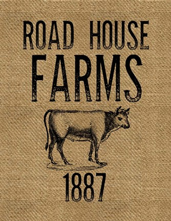 Framed Road House Farms Print