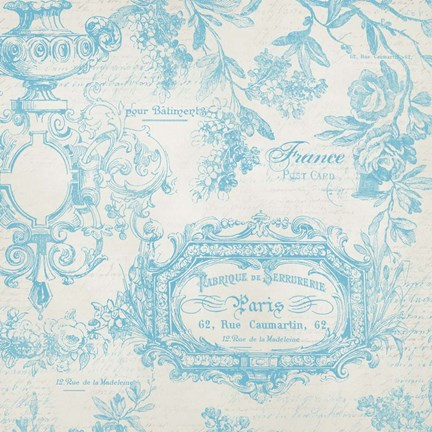 Framed French Blue Print