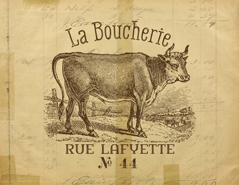 Framed French Cow Print