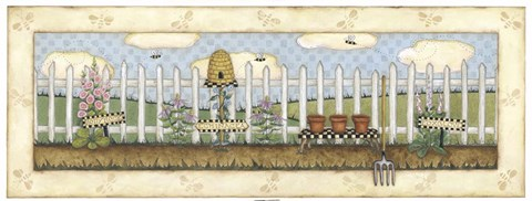 Framed Beehive Fence Print