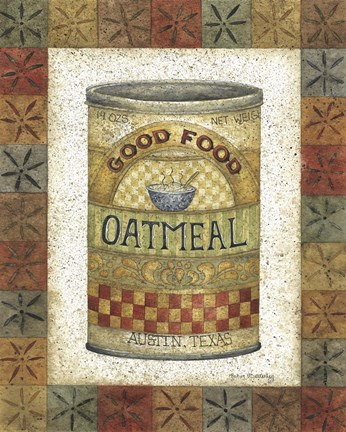 Framed Good Food Oatmeal Print