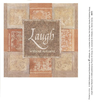 Framed Laugh Without Restraint Print
