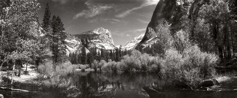 Framed Mirror Lake in Yosemite National Park, Mariposa County, California Print