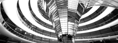 Framed Interiors of a government building, The Reichstag, Berlin, Germany Print