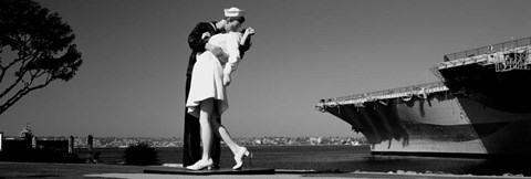 Framed Unconditional Surrender, San Diego Aircraft Carrier Museum, San Diego, California Print