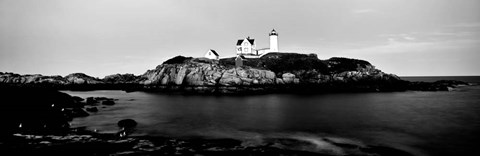 Framed Nubble Lighthouse, Cape Neddick, York, Maine Print