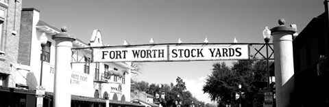 Framed Signboard over a street, Fort Worth Stockyards, Fort Worth, Texas Print