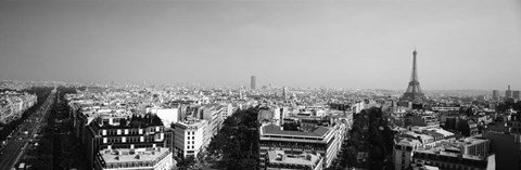 Framed High angle view of a cityscape, Paris, France Print