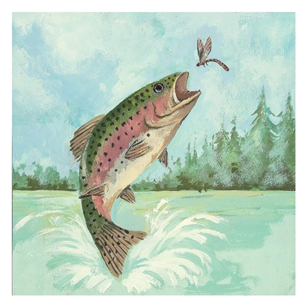 Trout Jumping Fine Art Print By Anita Phillips At