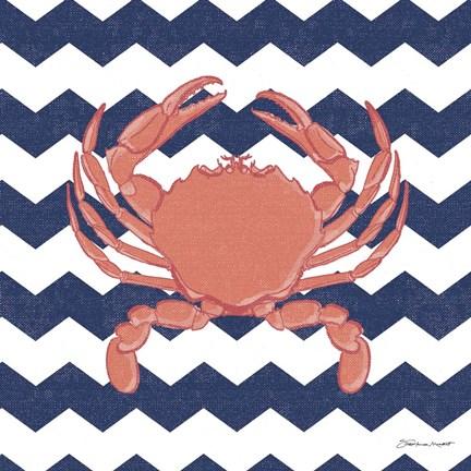 crab chevron fine art print by stephanie marrott at Small Bathroom Decorating Ideas Bathroom Decorating Ideas for Small Bathrooms