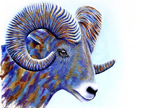 Ram Fine Art Print By Michelle Faber At Fulcrumgallery Com