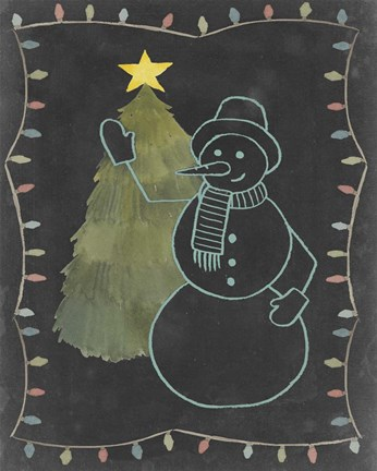Chalkboard Snowman I Fine Art Print By Grace Popp At
