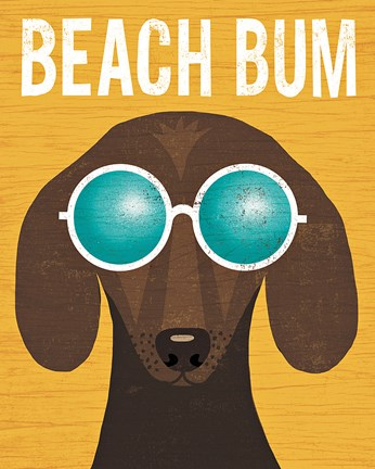 Beach Bums Dachshund I Bum Fine Art Print By Michael