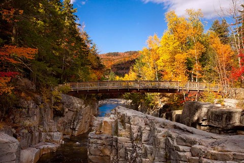 Bridge, Swift River Waterfalls, New Hampshire Fine Art ...