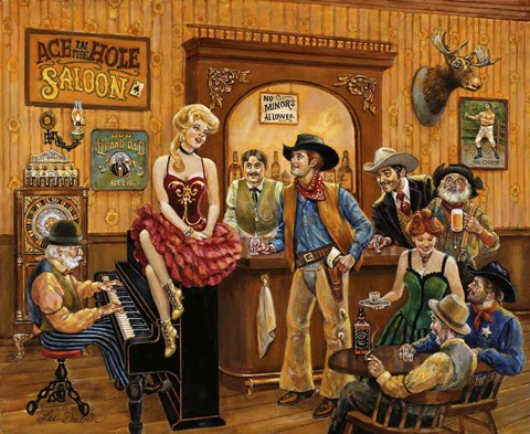 Wild Wild West Saloon Fine Art Print By Lee Dubin At