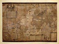 Map of the World, c.1500&#39;s (antique style)