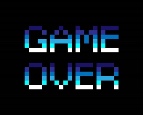 Game Over Blue Fine Art Print By Color Me Happy At