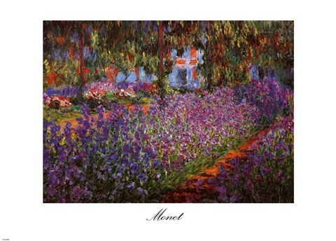 Framed Artist's Garden at Giverny, c.1900 Print