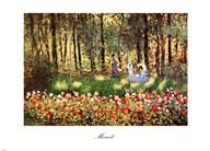 Family in Garden, Argenteuil  Fine Art Print
