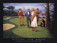 Putting for Birdie Art