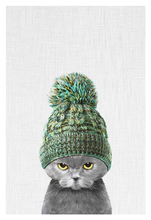 Kitten Wearing A Hat Fine Art Print By Tai Prints At