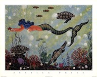 Blue Mermaid  Fine Art Print