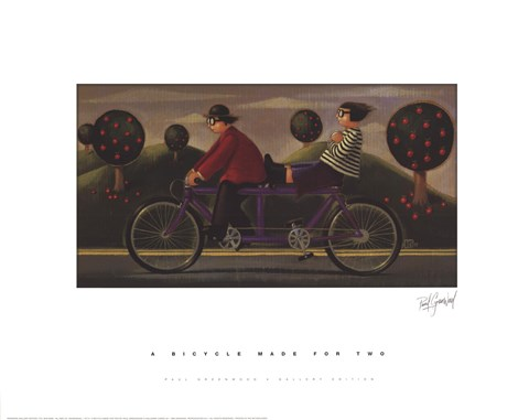Framed Bicycle Made for Two Print